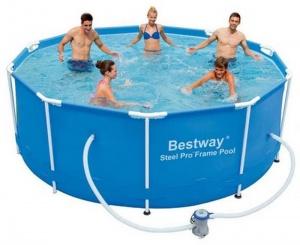 Каркасный бассейн 305х100см, 6148л, фильтр-насос 1249 л/ч, Bestway, 56334 BW - купить в Самаре в интернет-магазине | цены, фото, отзывы
